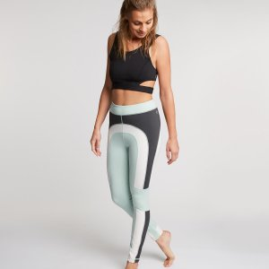 Yoga legging | Colorblock lichtblauw