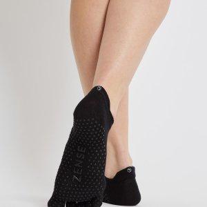 Zwarte yoga sokken met antislip