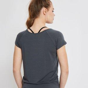 Achterzijde Yoga T-Shirt Malou Grijs