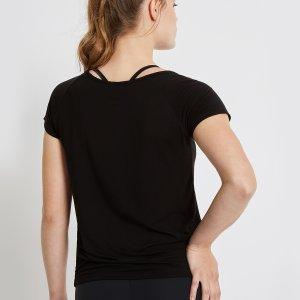 Achterzijde Yoga T-Shirt Malou Zwart