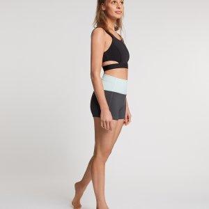 Yoga Short Sara Donkergrijs
