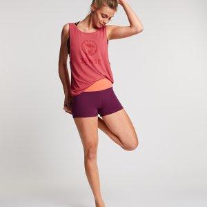 Donkerpaarse Yoga Short Sara