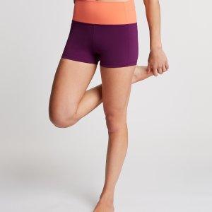 Yoga Short Sara Donkerpaars